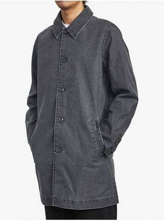 RVCA BRIGHTON MAC COAT RVCA BLACK podzimní bunda pro muže - šedá