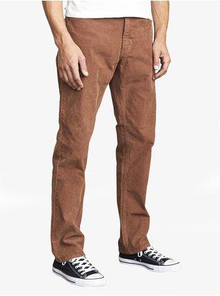 RVCA DAGGERS PIGMENT CORD COCOA plátěné kalhoty pánské - hnědá