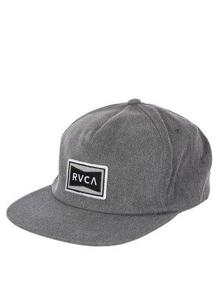 RVCA PACE GREY kšiltovka s rovným kšiltem - šedá