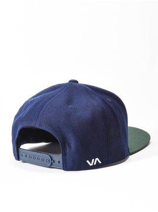 RVCA TWILL NAVY W/GREEN kšiltovka s rovným kšiltem - modrá