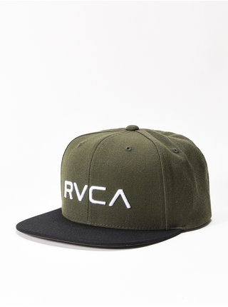 RVCA TWILL ALOE kšiltovka s rovným kšiltem - černá