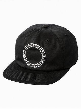 RVCA BAKER black kšiltovka s rovným kšiltem - černá
