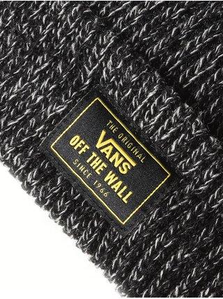 Vans BRUCKNER CUFF BLACK HEATHER pánská čepice - černá