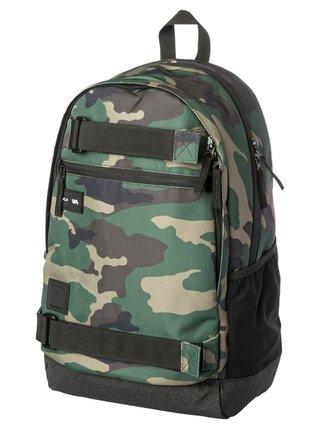 RVCA CURB III CAMO batoh do školy - zelená