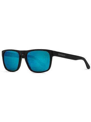 Horsefeathers KEATON brushed black/mirror blue sluneční brýle pilotky - černá