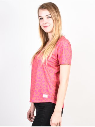 Femi Stories AYO NEONLEO dámské triko s krátkým rukávem - růžová