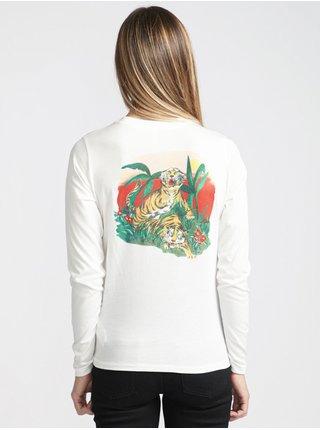 RVCA TIGER ATTACK ANTIQUE WHITE dámské triko s krátkým rukávem - bílá
