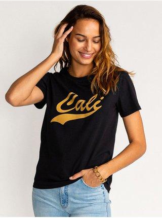 Billabong CALI black dámské triko s krátkým rukávem - černá