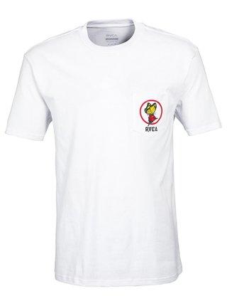 RVCA THANKING white dámské triko s krátkým rukávem - bílá