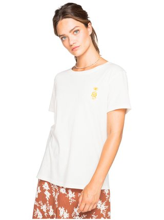 Billabong FOLLOW THE SUN SALT CRYSTAL dámské triko s krátkým rukávem - bílá