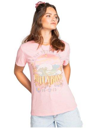 Billabong DAY DREAM AWAY GERANIUM dámské triko s krátkým rukávem - růžová