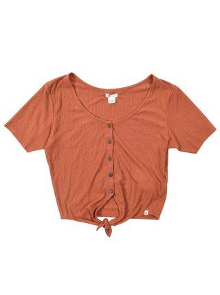 Billabong LOVELY CHOCOLATE dámské triko s krátkým rukávem - oranžová