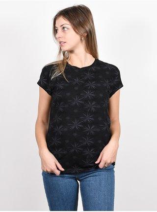Alife and Kickin MimmyAK AOP MOONLESS dámské triko s krátkým rukávem - černá