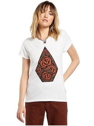 Volcom Radical Daze STAR WHITE dámské triko s krátkým rukávem - bílá