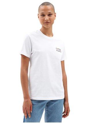 Vans HEAT SEEKER white dámské triko s krátkým rukávem - bílá