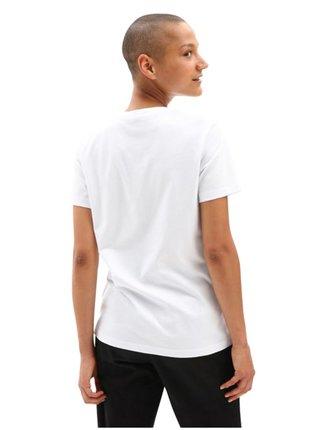 Vans BORDER FLORAL white dámské triko s krátkým rukávem - bílá