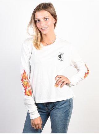 RVCA FIRING PINS ANTIQUE WHITE dámské triko s dlouhým rukávem - bílá