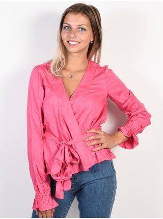 Billabong WRAPPED UP Sunset Pink dámské triko s dlouhým rukávem - růžová