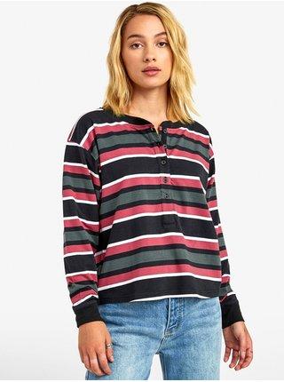 RVCA SIEGE black dámské triko s dlouhým rukávem - barevné