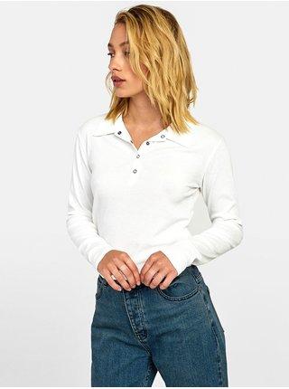 RVCA CAPPED off white dámské triko s dlouhým rukávem - bílá