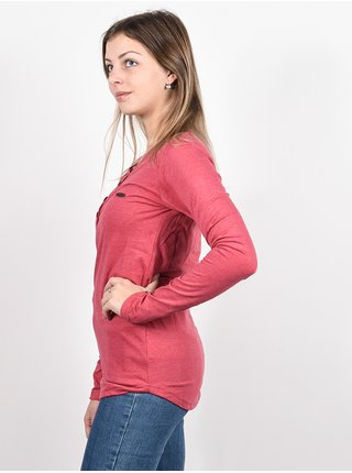 Alife and Kickin DaisyAK CRANBERRY dámské triko s dlouhým rukávem - růžová