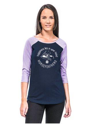 Horsefeathers HAPPINESS ECLIPSE dámské triko s dlouhým rukávem - modrá