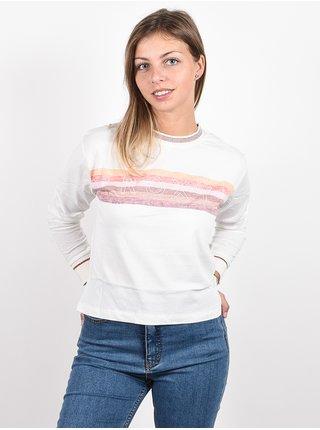 Roxy CRAZY STORY SNOW WHITE dámské triko s dlouhým rukávem - bílá