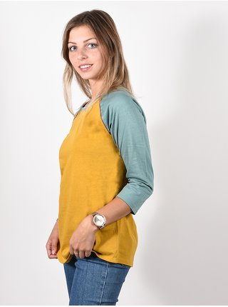 Burton CARATUNK HVSTGD/TRLLIS dámské triko s dlouhým rukávem - zelená