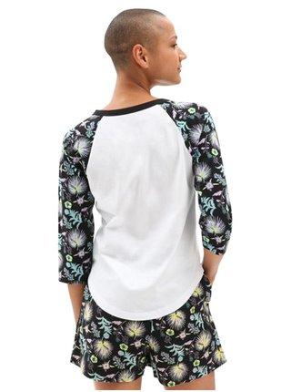 Vans CALIFAS WHITE/CALIFAS BLACK dámské triko s dlouhým rukávem - černá