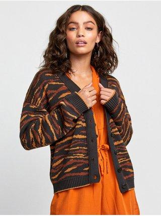 RVCA ADRIENNE CARDIGAN black dámský svetr - oranžová