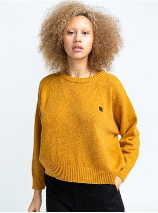 Element SLOWLY OLD GOLD svetr dámský - žlutá