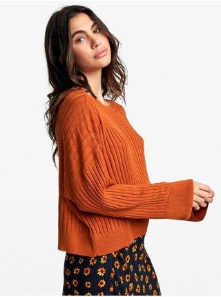 RVCA SYDNEY DARK ORANGE svetr dámský - oranžová