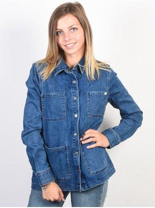 RVCA TRUE COLLAR indigo podzimní bunda pro ženy - modrá