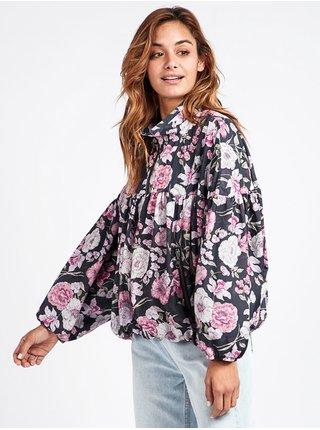 Billabong GLITTER WILD LAVENDER podzimní bunda pro ženy - černá
