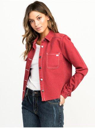 RVCA DAZE GARNET podzimní bunda pro ženy - červená