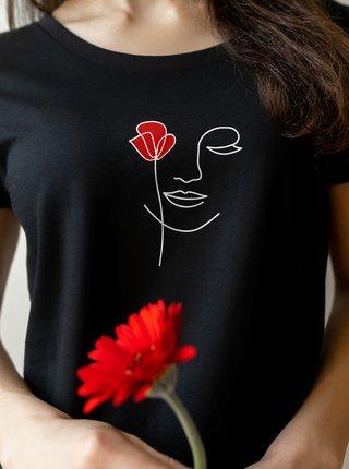 Čierne dámske tričko DOBRO. pro Acorus