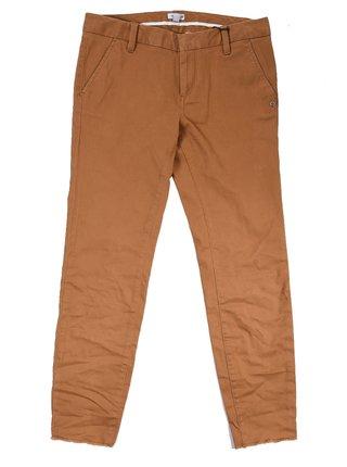 Element SHELLEY BRONCO BROWN plátěné kalhoty dámské - hnědá