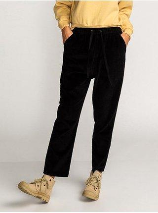 Billabong CASCADE black plátěné kalhoty dámské - černá