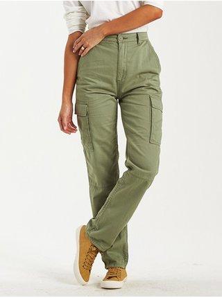 Billabong KICK BACK ARMY plátěné kalhoty dámské - zelená