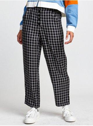 RVCA SEQUIOA black plátěné kalhoty dámské - černá