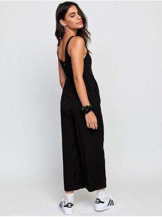 RVCA BEST TRIP black plátěné kalhoty dámské - černá