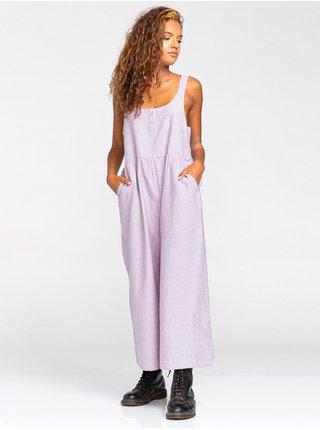 Element LEONORE BLUE PINK plátěné kalhoty dámské - fialová