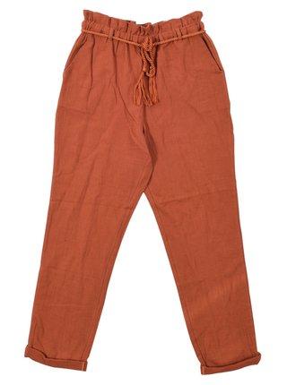 Billabong HIGH SKY CHOCOLATE plátěné kalhoty dámské - oranžová
