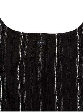 RVCA HONESTY TRUE BLACK plátěné kraťasy dámské - černá