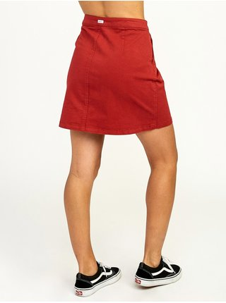 RVCA PROMISES BURNT RED krátká sukně - červená