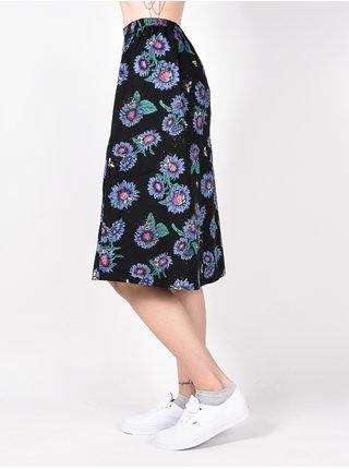 Element MIDNIGHT POP SUNFLOWERS PRIN dlouhá letní sukně - černá