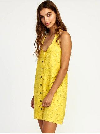 RVCA 90S BABY MUSTARD krátké letní šaty - žlutá