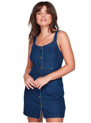 Element INDIGO OVERSHIRT INDIGO WASH krátké letní šaty - modrá