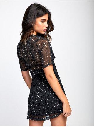 RVCA GILA black krátké letní šaty - černá