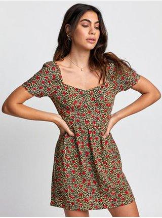 RVCA FENCED SUNWASH krátké letní šaty - červená